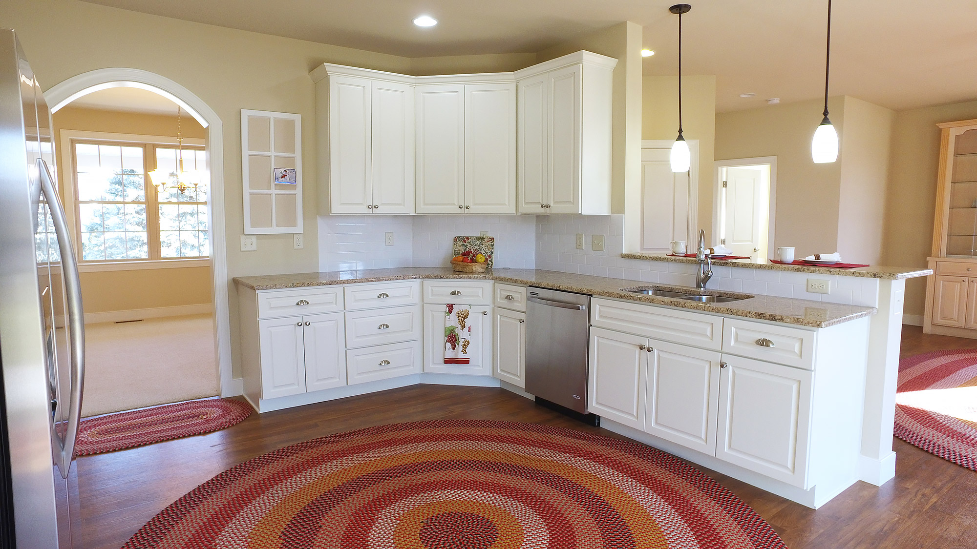 Custom Kitchen With Granite And Stainless Appliances Jon Warner Custom Built Homes Lancaster Pa